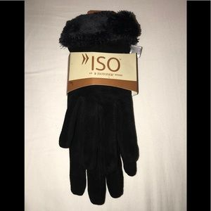 ISO Isotoner Brand Leather Gloves - Size: M